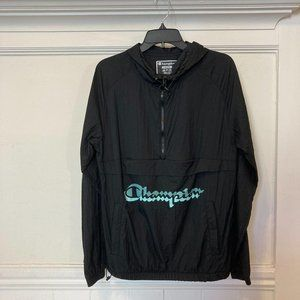 NEW Champion Size Medium Hooded Windbreaker Jacket